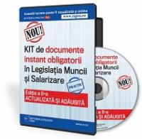 KIT de documente obligatorii in Legislatia Muncii si Salarizare