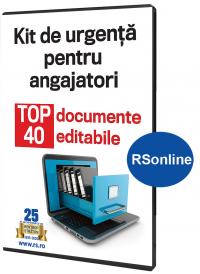 Kit de urgenta pentru angajatori. TOP 40 documente editabile